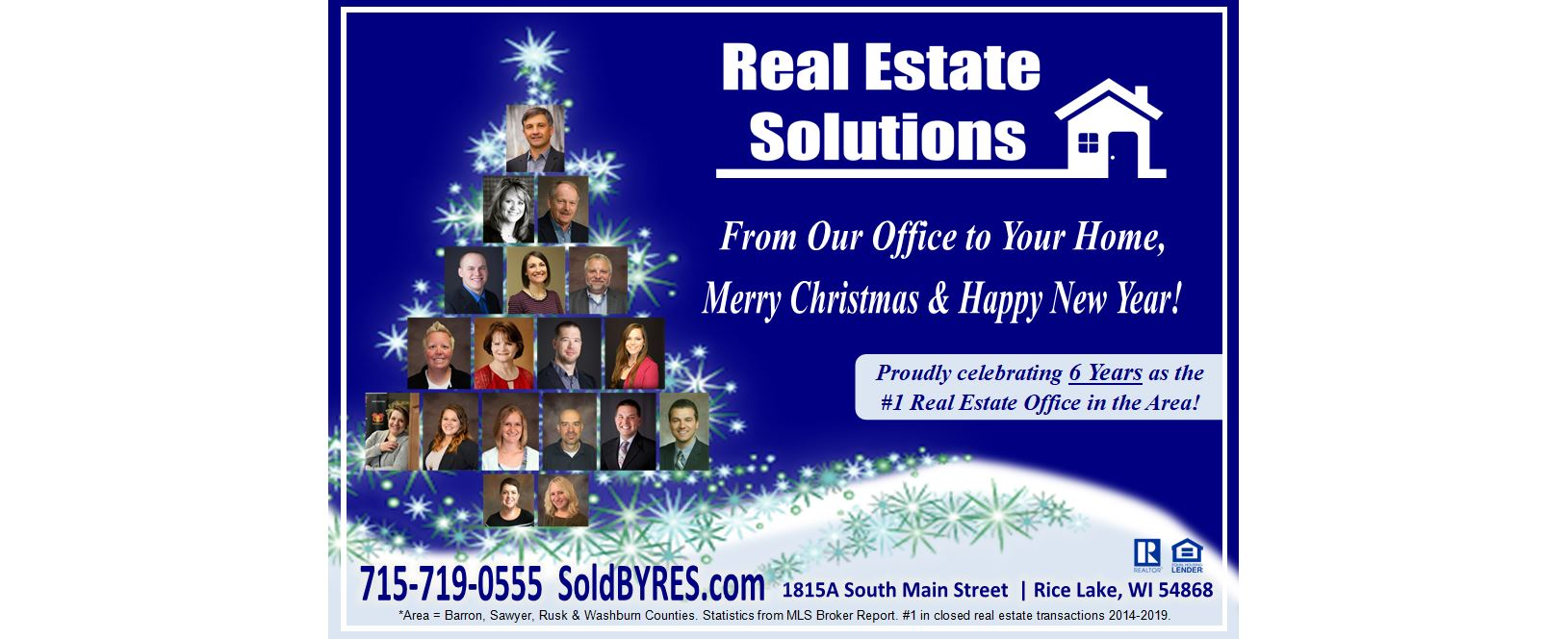 Merry Christmas and Happy New Year from Real Estate Solutions!